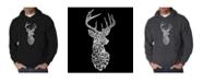 LA Pop Art Men's Word Art Hoodie - Types of Deer