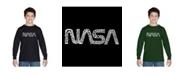 LA Pop Art Boy's Word Art Long Sleeve T-Shirt - Nasa Worm Logo