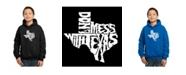 LA Pop Art Boy's Word Art Hoodies - Dont Mess With Texas