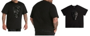 Mvp Collections By Mo Vaughn Productions MVP Collections Men's Big & Tall Sequin Skull T-Shirt