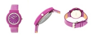Crayo Unisex Vivid Fuchsia Leatherette Strap Watch 36mm