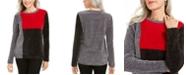 Karen Scott Colorblocked Chenille Sweater, Created For Macy's
