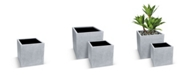 "Le Present Betona Kube Flower Box Fiberstone Pot 18"""
