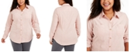Charter Club Plus Size Cotton Corduroy Shirt, Created For Macy's