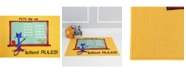 """Pete the Cat Elementary School Rules Yellow 35.4"""" x 4'3"""" Area Rug"""