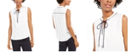 Tommy Hilfiger Ruffle-Front Woven Top