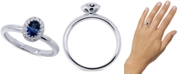 Macy's Sapphire (1/2 ct. t.w.) & Diamond (1/5 ct. t.w.) Oval Ring in 14k White Gold