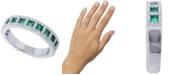 Macy's Emerald (5/8 ct. t.w.) & Diamond (1/3 ct. t.w.) Ring in 14k White Gold