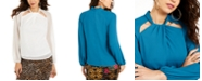 Thalia Sodi Twist-Neck Cutout Top, Created for Macy's
