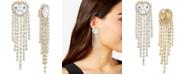 RACHEL Rachel Roy Gold-Tone Crystal Heart & Fringe Clip-On Statement Earrings