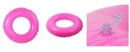 """Northlight 35"""" Inflatable Classic Round Pink Swimming Pool Inner Tube Ring Float"""