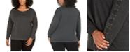 Belldini Plus Size Grommet Lace-Up Top