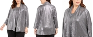 Kasper Plus Size Metallic Jacket