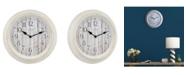 """La Crosse Technology La Crosse Clock 404-3036BW 14"""" Barn Wood Wall Clock"""
