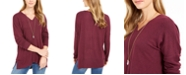 Style & Co Drop-Shoulder V-Neck Tunic, Created For Macy's