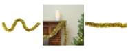 Northlight 50' Traditional Deep Gold 8 Ply Christmas Foil Tinsel Garland - Unlit