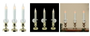 Northlight Set of 3 Battery Operated LED Flickering Window Christmas Candle Lamps 8.5""