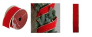 "Northlight Solid Bright Red Gold Wired Christmas Craft Ribbon 2.5"" x 10 Yards"