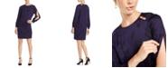 Escada Printed Split-Sleeve Dress