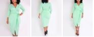 Rebdolls Blazer Faux Wrap Midi Dress by The Workshop at Macy's