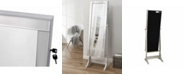 INSPIRED HOME Radiant Jewelry Armoire Full Length Cheval Mirror