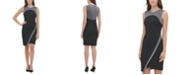 Tommy Hilfiger Petite Metallic-Trim Asymmetrical Sheath Dress