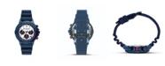 Columbia Men's Peak Patrol Blue Silicone Strap Chronograph Watch 42mm