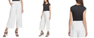 DKNY Striped Wide-Leg Pants