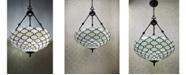 Amora Lighting Tiffany Style 2-Light Jeweled Hanging Candelier Lamp
