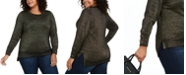 Michael Kors Plus Size Shimmer High-Low Sweater
