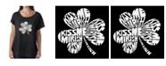 LA Pop Art Women's Dolman Cut Word Art Shirt - Kiss Me I'M Irish