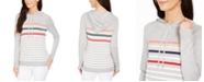 Charter Club Striped Hooded Sweater, Created for Macy's