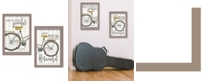 """Trendy Decor 4U Pedal it Out 2-Piece Vignette by Marla Rae, Taupe Frame, 14"""" x 20"""""""