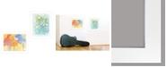 "Trendy Decor 4U Trendy Decor 4U Floral Joys 2-Piece Vignette by Lorri Hanna, White Frame, 15"" x 19"""