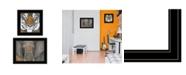 "Trendy Decor 4U Wildlife II 2-Piece Vignette by Britt Hallowell, Black Frame, 19"" x 15"""