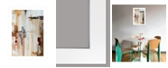 "Trendy Decor 4U Falling Blocks by Cloverfield Co, Ready to hang Framed Print, White Frame, 15"" x 21"""