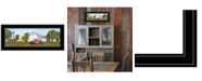 """Trendy Decor 4U Summer on the Farm by Billy Jacobs, Ready to hang Framed Print, Black Frame, 39"""" x 15"""""""