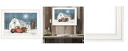 """Trendy Decor 4U Wintry Weather by Billy Jacobs, Ready to hang Framed Print, White Frame, 19"""" x 15"""""""
