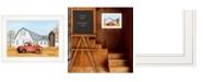 "Trendy Decor 4U Pumpkin Harvest by Billy Jacobs, Ready to hang Framed Print, White Frame, 19"" x 15"""