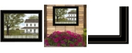 """Trendy Decor 4U GREEN, GREEN GRASS OF HOME by Billy Jacobs, Ready to hang Framed Print, Black Frame, 19"""" x 15"""""""