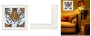 "Trendy Decor 4U Trendy Decor 4U Tiger Gaze by Britt Hallowell, Ready to hang Framed Print, White Frame, 15"" x 15"""