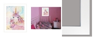 "Trendy Decor 4U Sprinkles and Starlight by Lisa Morales, Ready to hang Framed Print, White Frame, 15"" x 19"""
