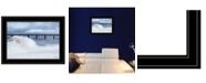 Trendy Decor 4U Trendy Decor 4U Blue Waves by Lori Deiter, Ready to hang Framed Print Collection