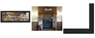 "Trendy Decor 4U Lounging By John Rossini, Printed Wall Art, Ready to hang, Black Frame, 21"" x 9"""