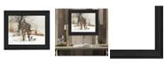 "Trendy Decor 4U The Joy of Snow By John Rossini, Printed Wall Art, Ready to hang, Black Frame, 18"" x 14"""