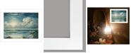 "Trendy Decor 4U Moon Glow by Georgia Janisse, Ready to hang Framed Print, White Frame, 19"" x 15"""