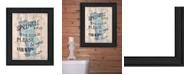 "Trendy Decor 4U Bathroom Humor by Debbie DeWitt, Ready to hang Framed Print, Black Frame, 15"" x 19"""