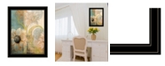 "Trendy Decor 4U Meandering Flowers I by Dee Dee, Ready to hang Framed Print, Black Frame, 21"" x 27"""