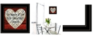 """Trendy Decor 4U Measure of Love by Cindy Jacobs, Ready to hang Framed Print, Black Frame, 15"""" x 15"""""""