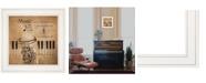 "Trendy Decor 4U Music by Robin-Lee Vieira, Ready to hang Framed Print, White Frame, 15"" x 15"""